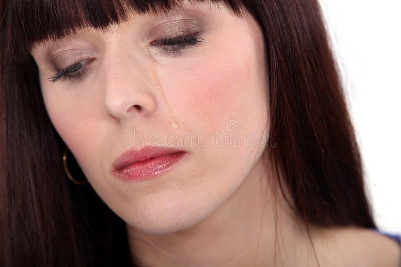 生气妇女哭泣 免版税库存图片