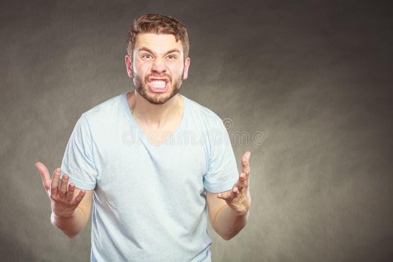 生气恼怒的愤怒的人人 库存照片