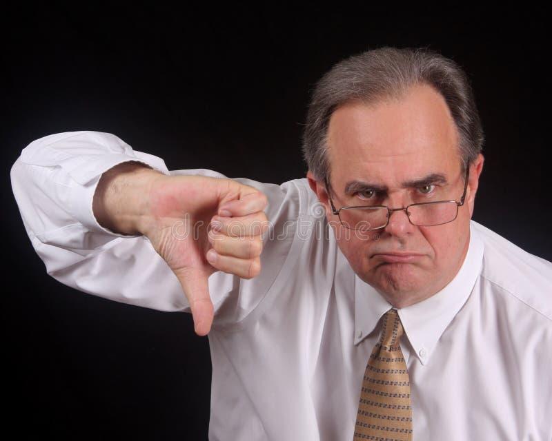生气的执行委员被打动没有 库存照片