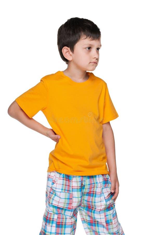 生气年轻男孩 免版税图库摄影