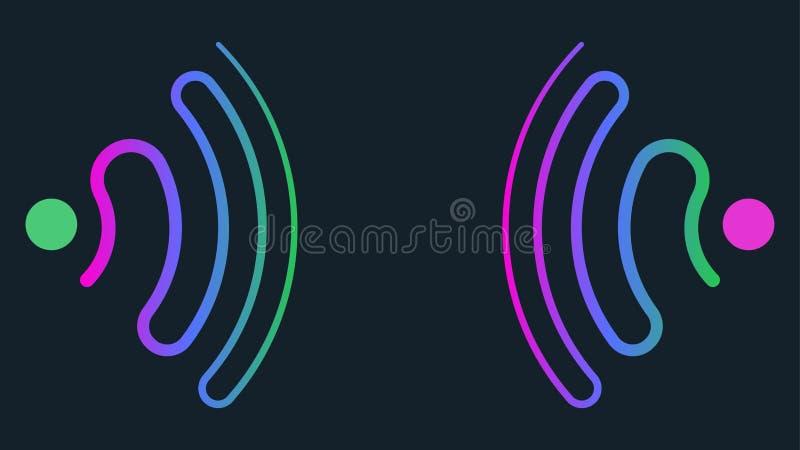 生波探侧器波浪概念性抽象背景 皇族释放例证