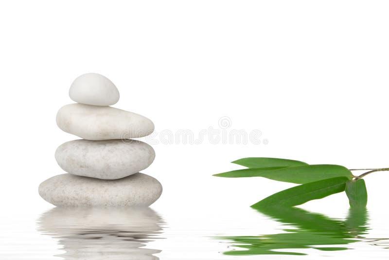 生活小卵石堆积了寂静的健康 库存图片