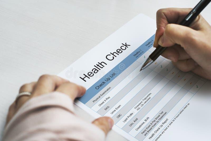 生活方式的每年身体检查 免版税库存图片