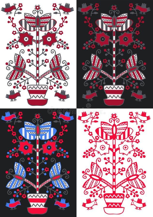 `生活树`东部斯拉夫的装饰品 皇族释放例证