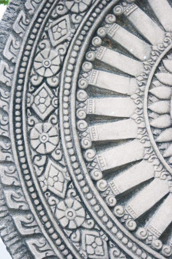 生活石头瓦片纹理砖w黑暗的灰色轮子  免版税库存图片