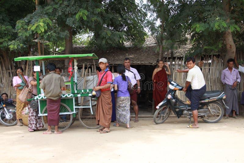 生活缅甸街道 免版税库存图片
