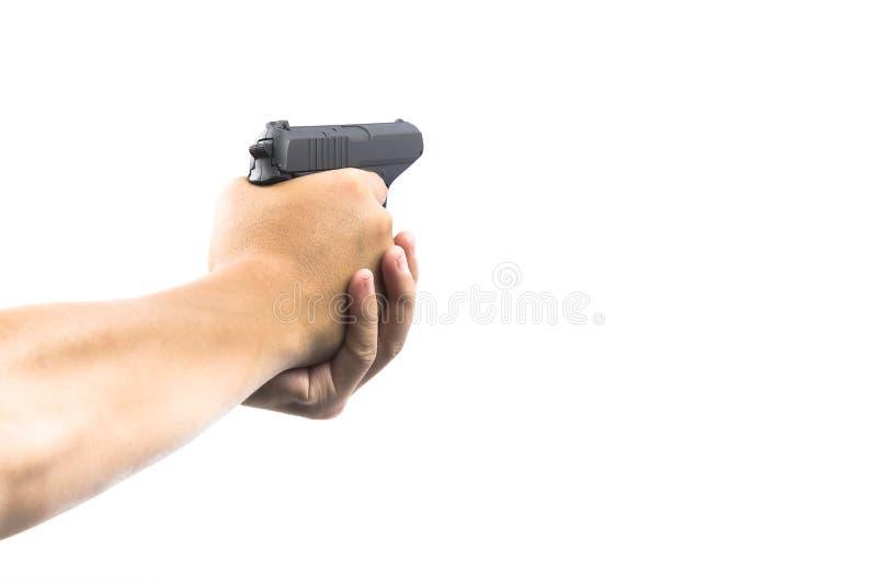 生火枪现有量暂挂 免版税库存图片