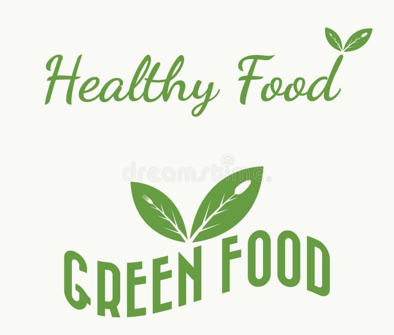 生物健康食物 向量例证