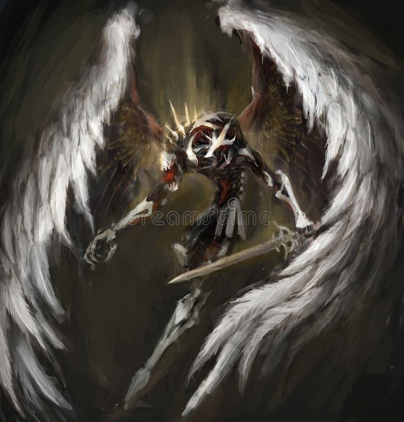 生物力学的天使 皇族释放例证
