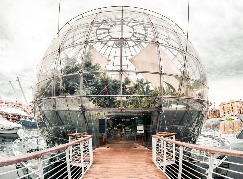 生物圈。 Genova,意大利 免版税图库摄影