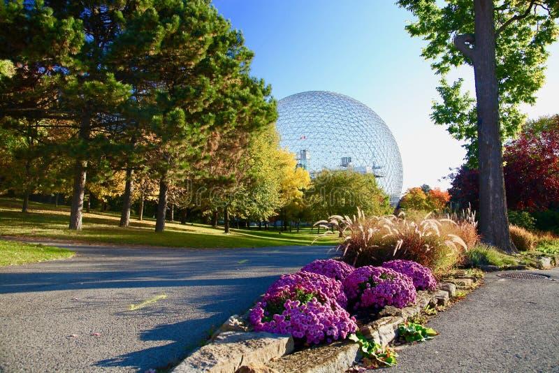 生物圈,蒙特利尔,秋天,魁北克加拿大 库存照片