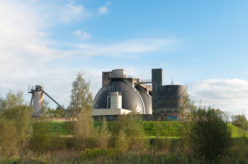 生物天然气加工厂 免版税图库摄影