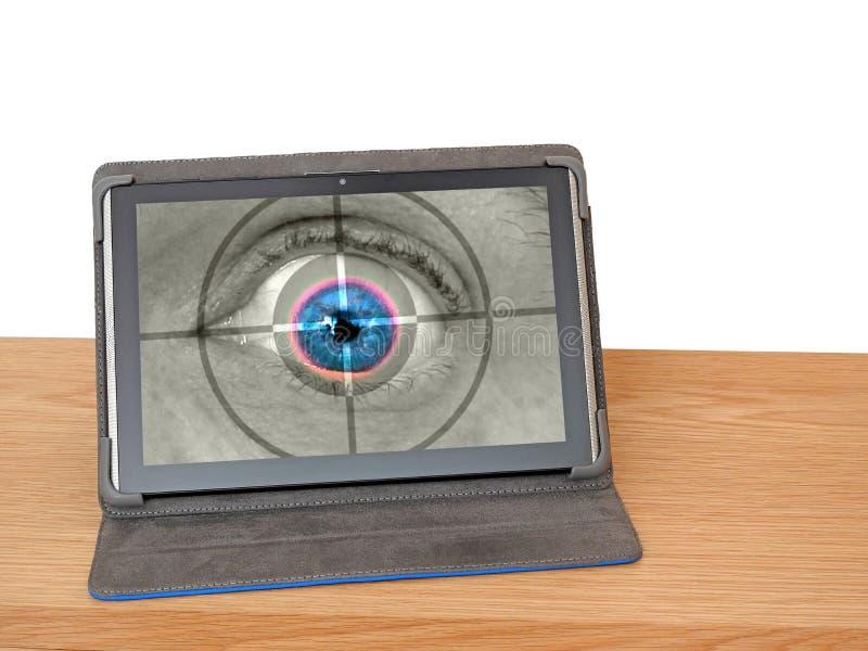 生物测定学视网膜眼睛扫描安检监视 免版税库存图片