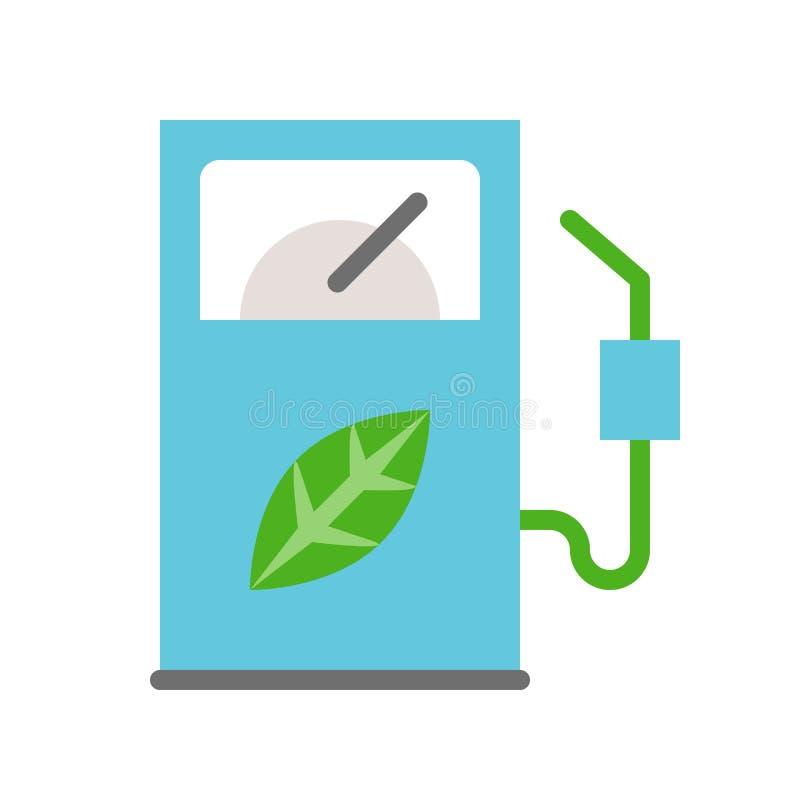 生物燃料分配器,清洁能源概念平的象 皇族释放例证