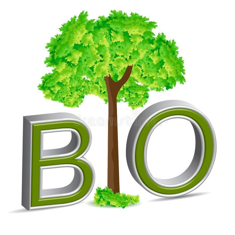 生物结构树 库存例证