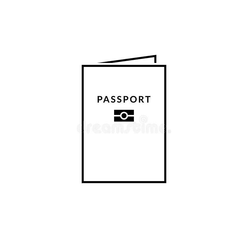 生物统计的护照象 库存例证