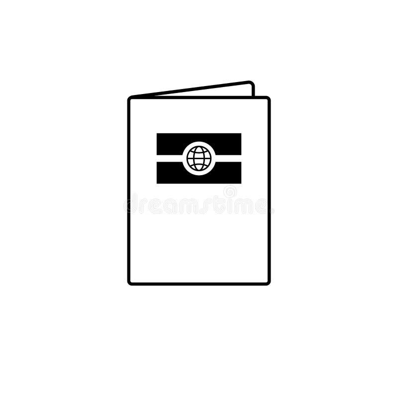 生物统计的护照象 皇族释放例证