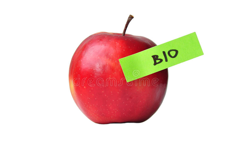 生物苹果果子 免版税库存照片