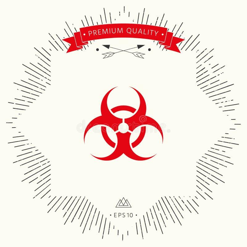 生物道路危险标志 皇族释放例证