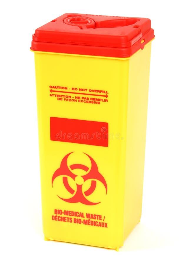 生物配件箱医疗浪费 免版税库存照片