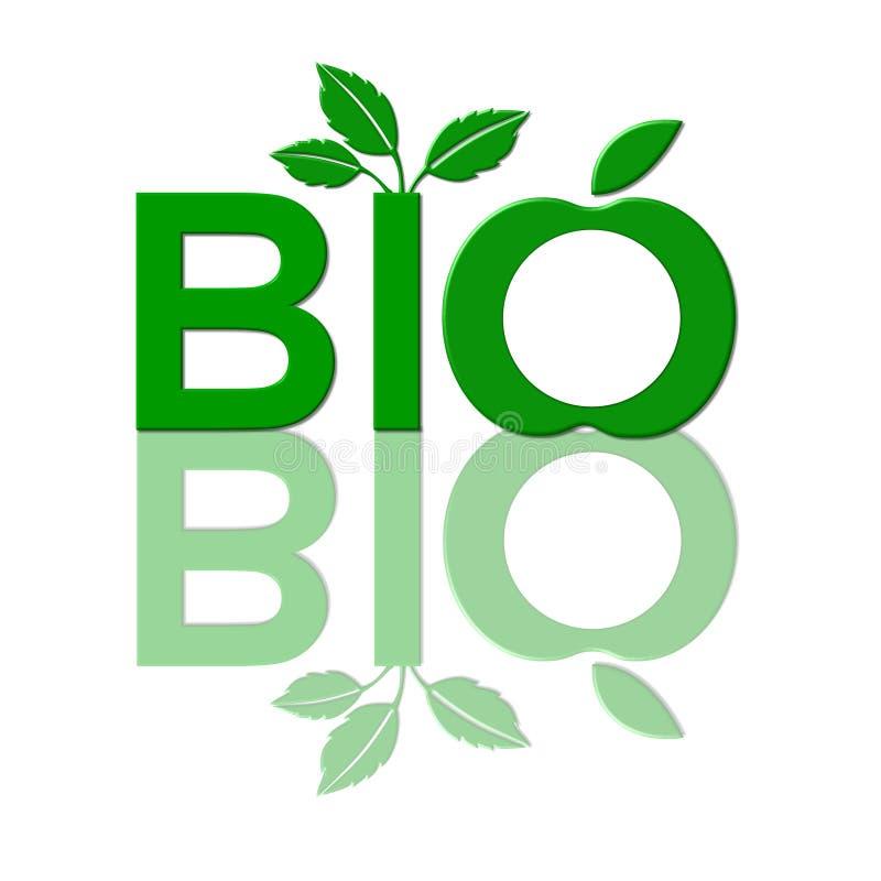 生物食物徽标 向量例证