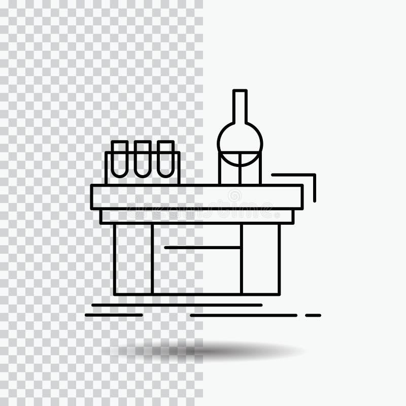 生物,化学,实验室,实验室,在透明背景的生产线象 r 向量例证