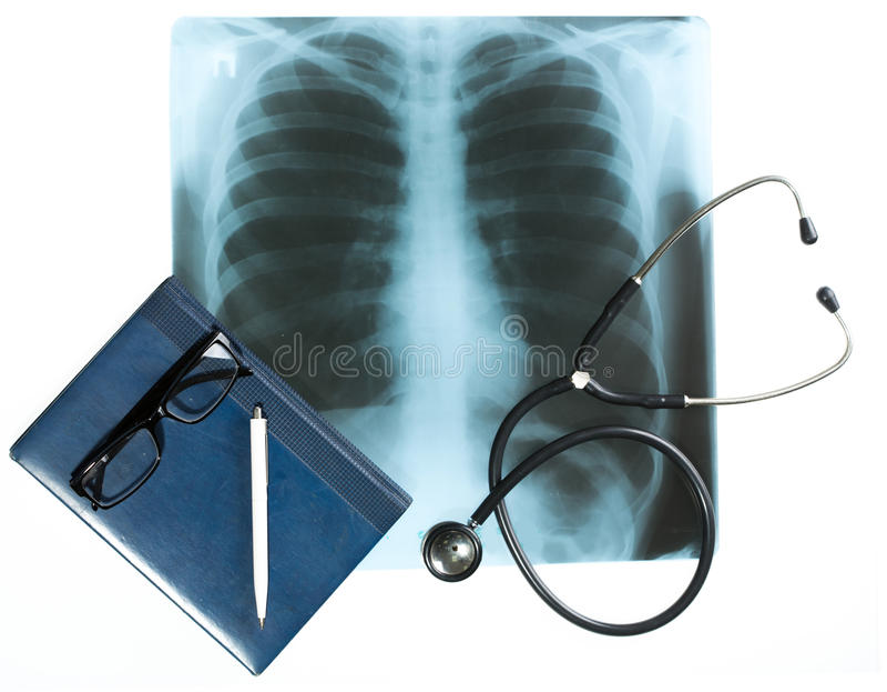 医生的书桌,医疗概念 免版税库存照片