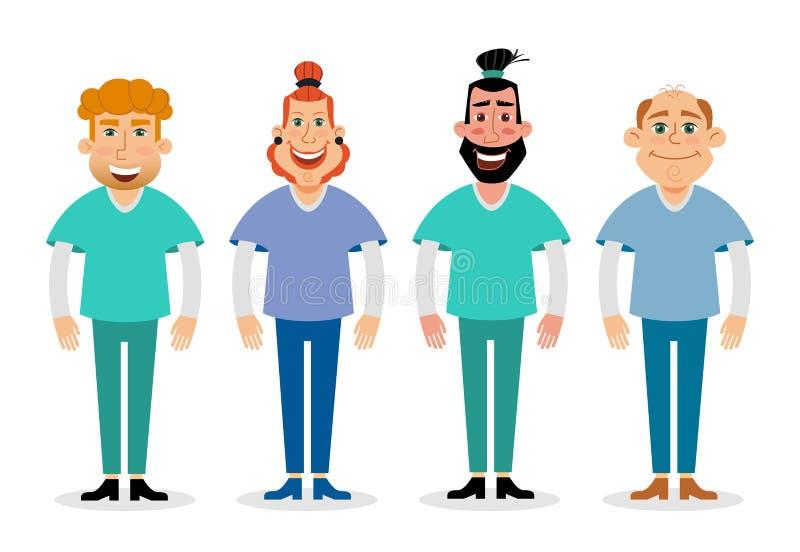 医生的传染媒介平的例证 医疗和医疗保健概念 向量例证