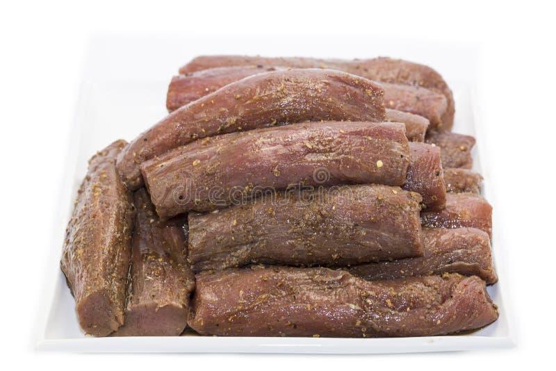 生肉和香料 库存图片