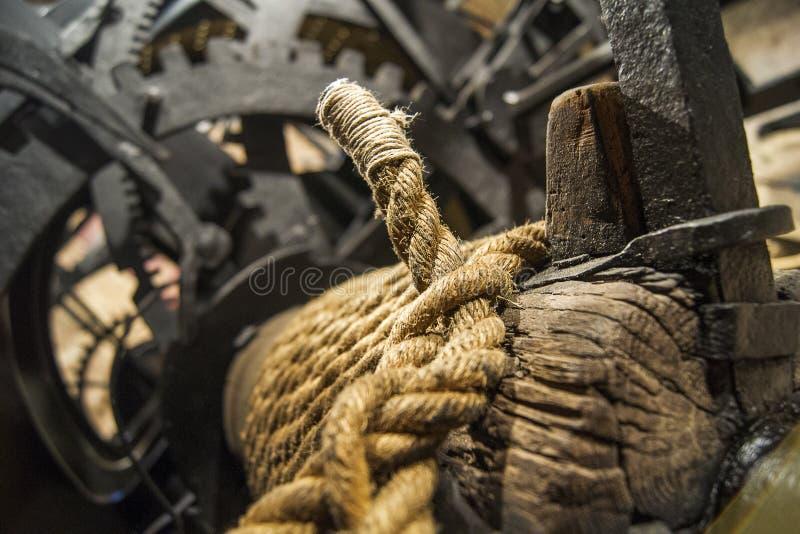 黑生铁钝齿轮 免版税库存图片