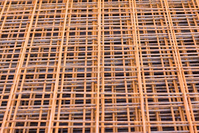 生锈具体耶老岛的铁的净额 免版税图库摄影