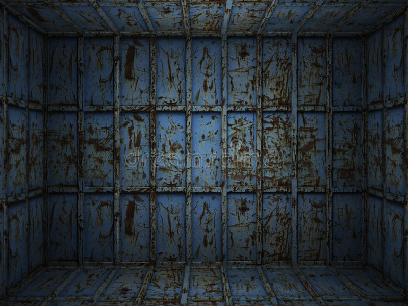 生锈内部金属的空间 免版税库存照片