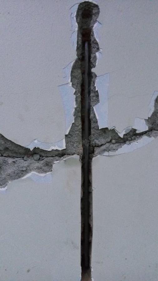 生锈和肮脏的水泥崩裂了纹理建筑 免版税库存图片