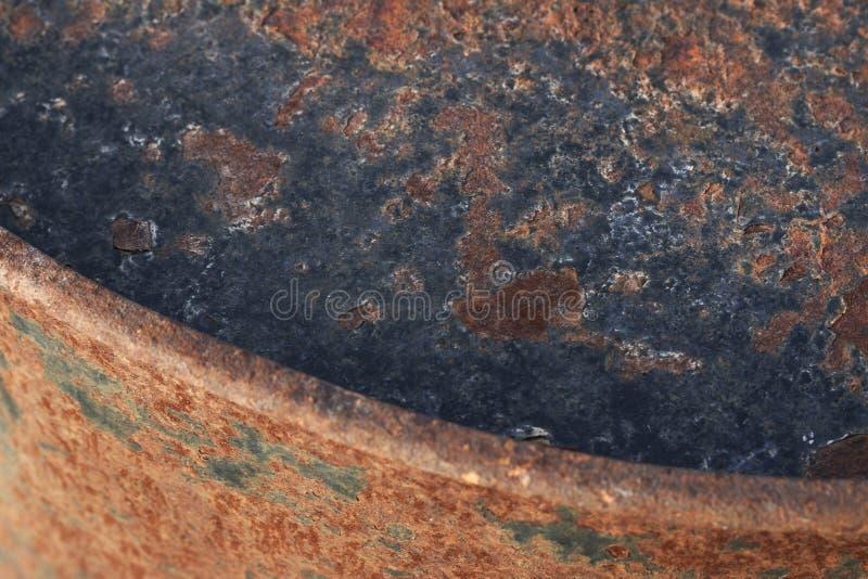 生锈和被绘的织地不很细金属 免版税库存照片