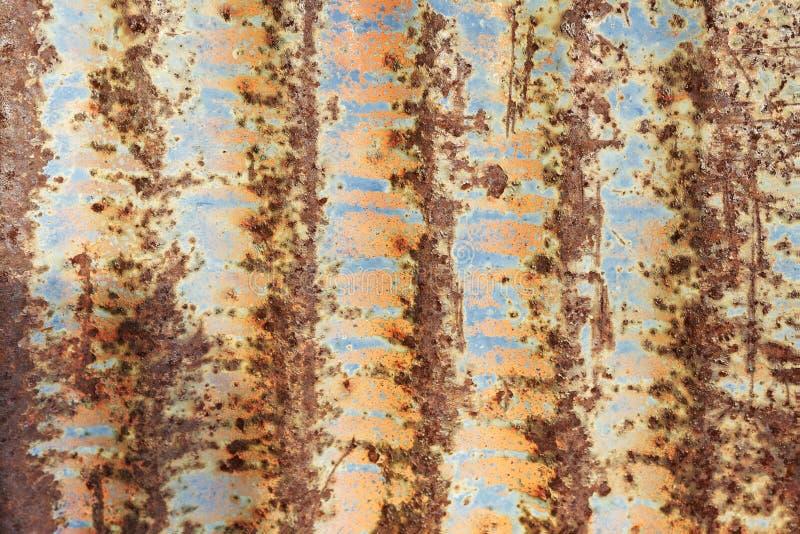 生锈和被绘的织地不很细金属 免版税图库摄影