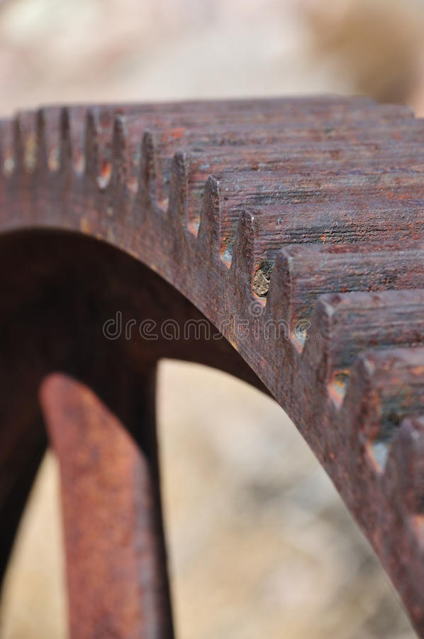 生锈抽象的齿轮 库存图片