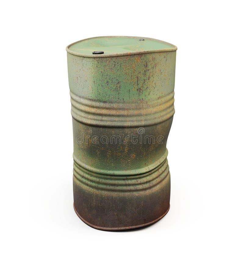 生锈桶的金属 3d 皇族释放例证