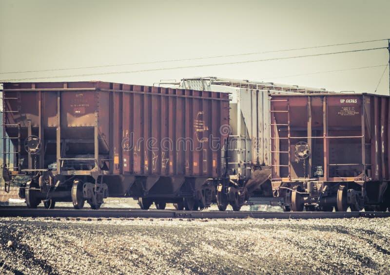 生锈的五谷跳跃者列车车箱 免版税库存照片