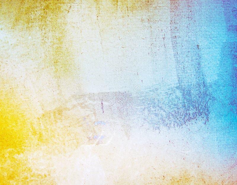 生锈的减速火箭的墙纸 免版税库存照片
