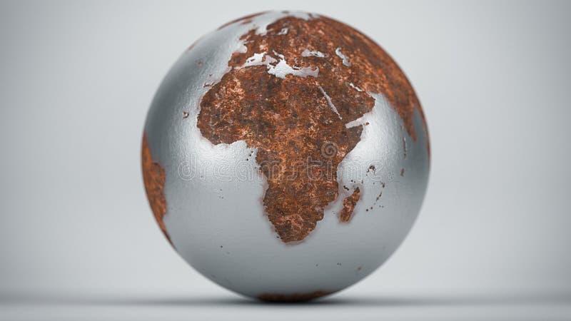 生锈的地球非洲 免版税库存图片