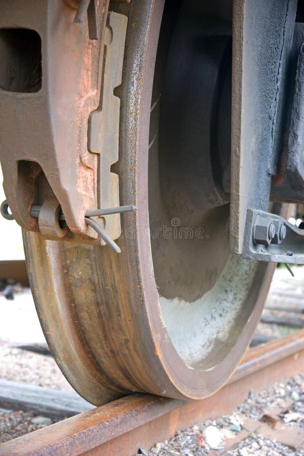 生锈的培训轮子 免版税库存照片