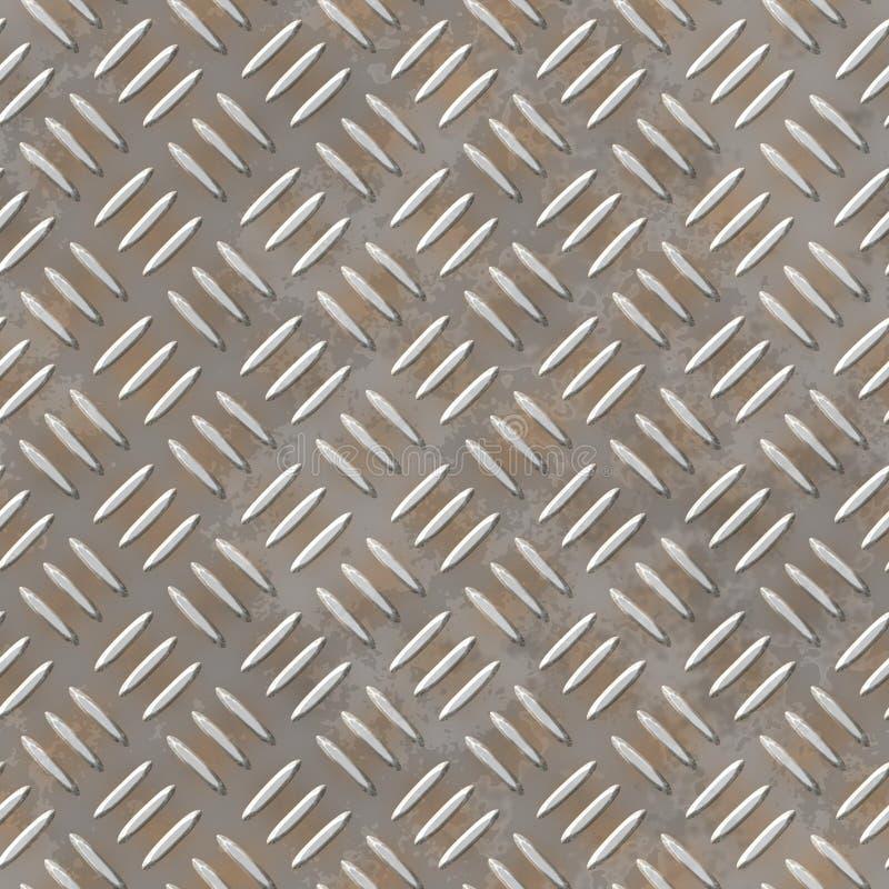 生锈的安全金刚石板材板料无缝的背景 库存例证