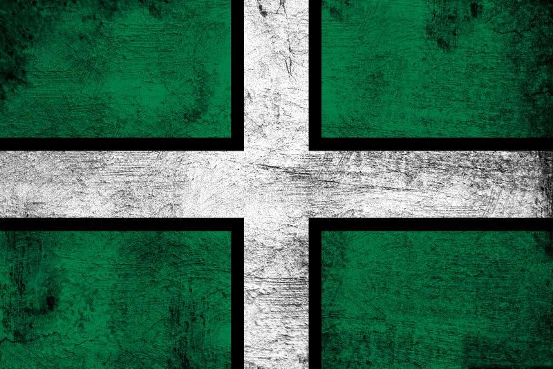 生锈的德文郡和难看的东西旗子例证 皇族释放例证
