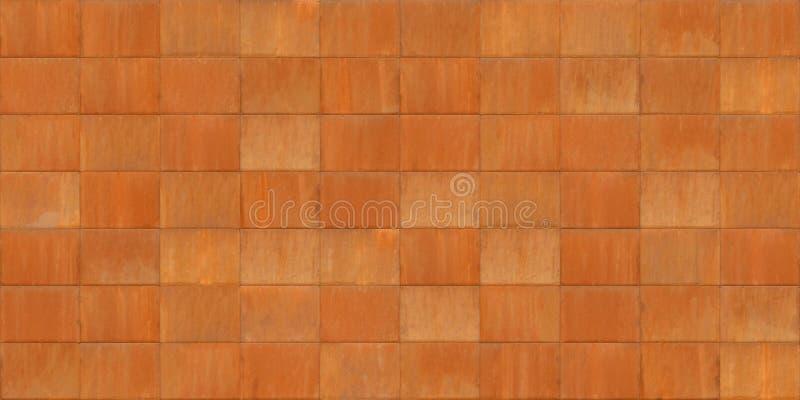 生锈的惊叹十金属板无缝的纹理  库存照片