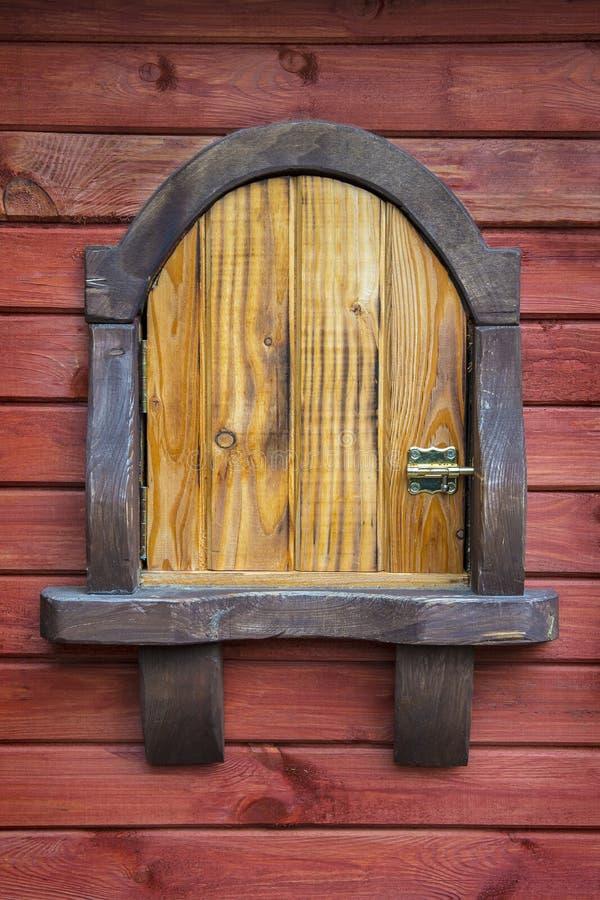 生锈的木小船门 库存图片