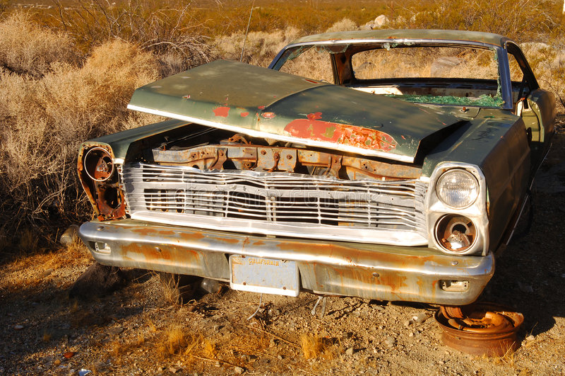 生锈的汽车老 库存照片