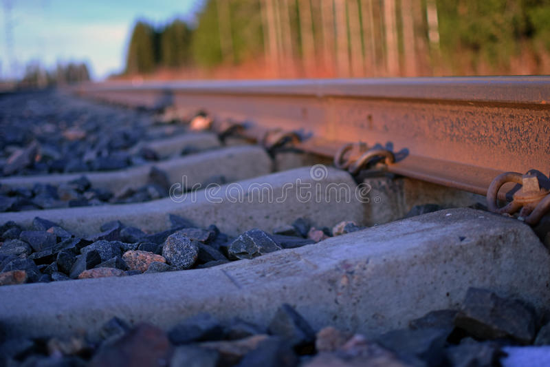 生锈的火车轨道 免版税图库摄影