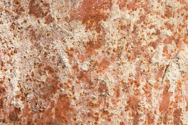生锈的纹理背景,生锈的铁墙壁的抽象表面 库存照片