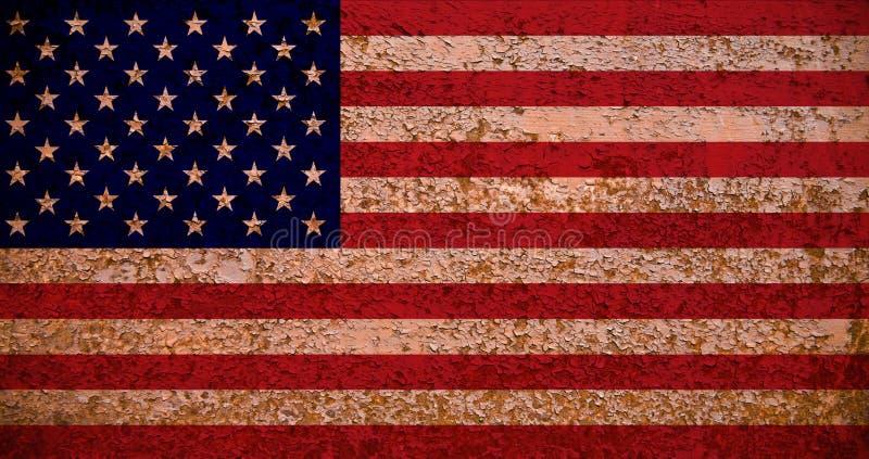 生锈的美国国旗 皇族释放例证