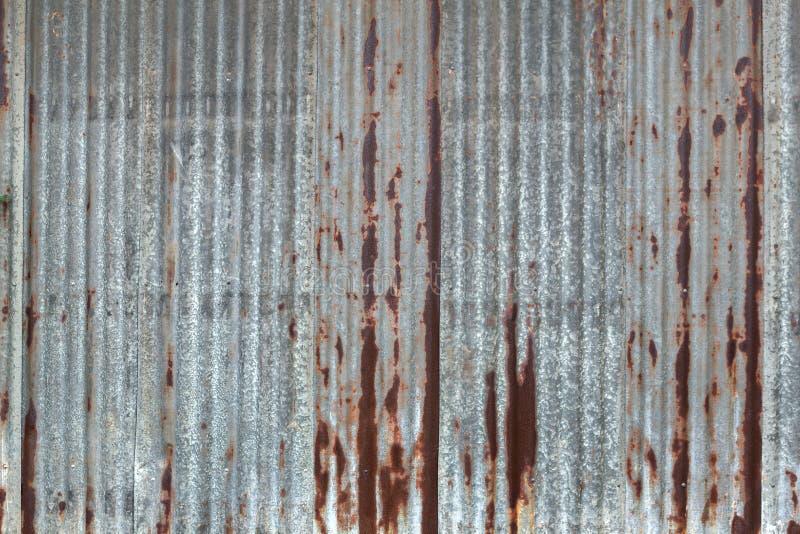 生锈的老锌纹理 图库摄影